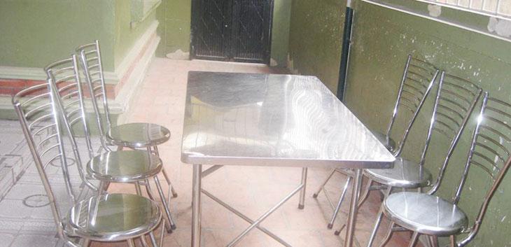 Thanh lý bàn ghế inox quán ăn