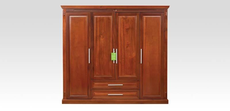 Top mẫu tủ quần áo gỗ tự nhiên đẹp nhất