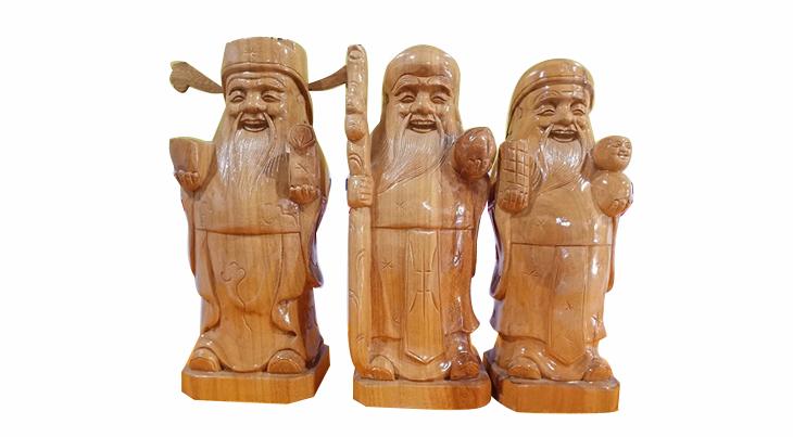 Tượng gỗ phúc lộc thọ, tượng tam đa