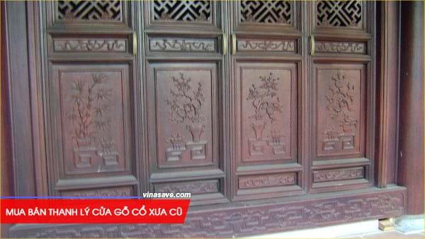 Mua bán thanh lý cửa gỗ cổ xưa cũ giá rẻ tại VinaSave 1