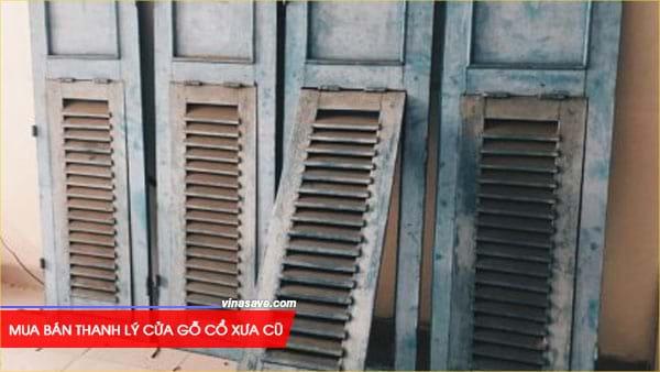 Mua bán thanh lý cửa gỗ cổ xưa cũ giá rẻ tại VinaSave 2