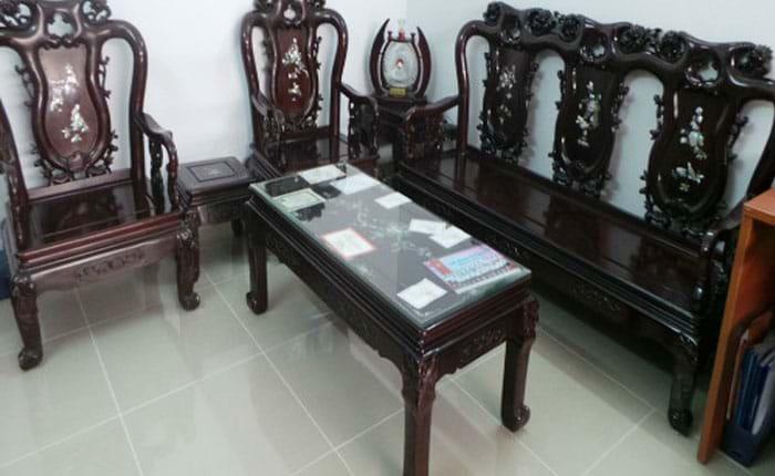 Mua bán thanh lý bàn ghế gỗ xưa phòng khách cũ giá tốt 2