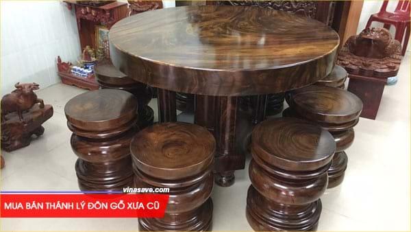 Mua bán thánh lý đôn gỗ xưa cũ giá rẻ tại VinaSave 1