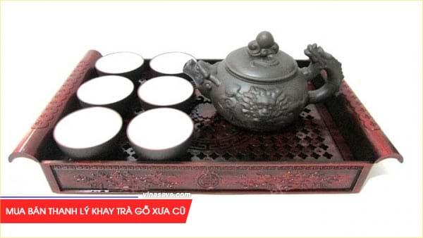 Mua bán thanh lý Khay trà gỗ xưa cũ giá rẻ chất lượng 1