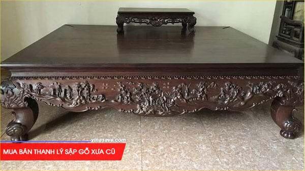 Mua bán thanh lý sập gỗ xưa cũ giá rẻ tại VinaSave 2