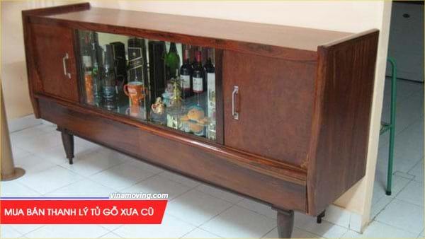 Mua bán thanh lý tủ gỗ xưa cũ giá tốt tại VinaSave 1