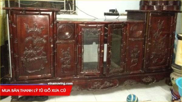 Mua bán thanh lý tủ gỗ xưa cũ giá tốt tại VinaSave 2