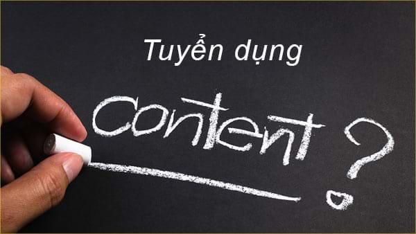 Tuyển dụng Nhân Viên Content