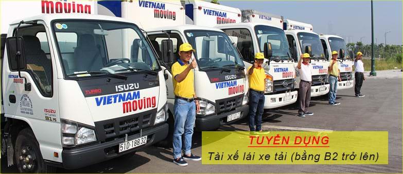 Tài xế lái xe tải (bằng B2 trở lên)