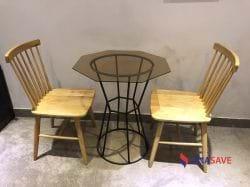 Bộ bàn 2 ghế gỗ cũ