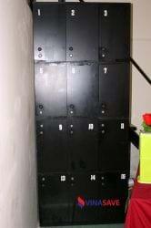 Tủ locker sắt cũ màu đen 12 hộc