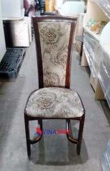 Ghế nệm khung gỗ lưng cao cũ