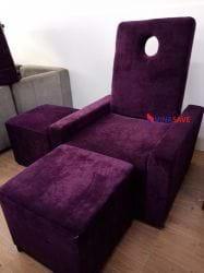 Ghế massage ngồi màu tím cũ