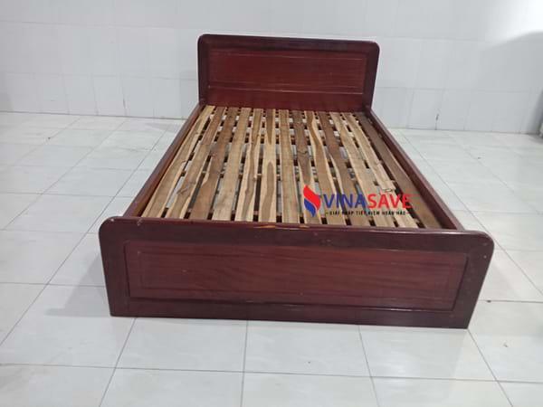 VinaSave thanh lý giường cũ gỗ tự nhiên cao cấp đã được xử lý kỹ thuật - 1203
