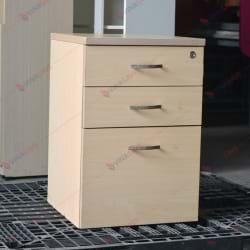 Hộc tủ di động 3 ngăn màu vàng vân gỗ