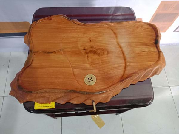 Thanh lý Khay trà gỗ tự nhiên nguyên khối cũ chất lượng còn như mới - 2885