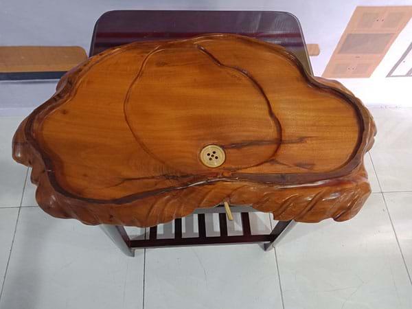 VinaSave thanh lý Khay trà nguyên khối vân gỗ nổi cũ chất lượng tốt - 2889