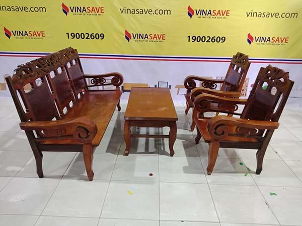 Bộ sofa gỗ cũ SP002700