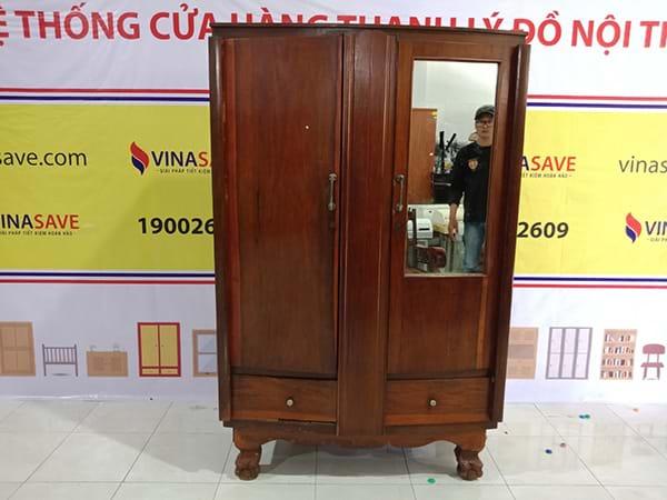 Thanh lý Tủ quần áo gỗ tự nhiên đã qua sử dụng còn tốt, giá ưu đãi -2699