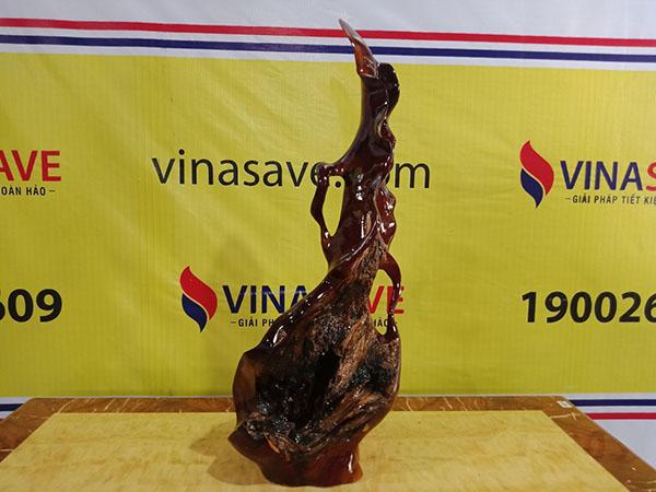 Bình Phay gỗ Cẩm Chỉ Gia Lai 82x30x22 cm