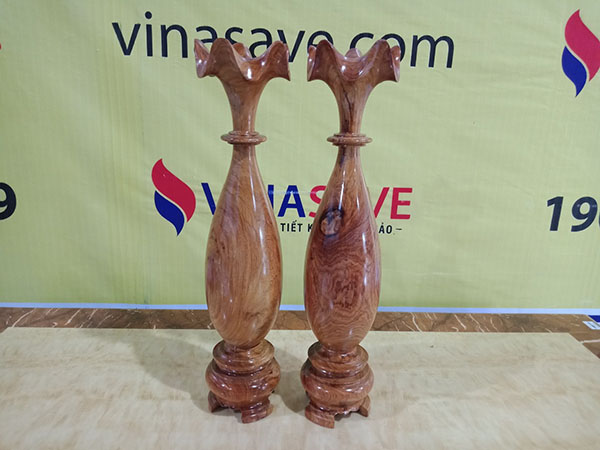 Cặp Tỳ Bà gỗ Hương nguyên khối chất lượng 51x11 cm, trọng lượng 4,2kg