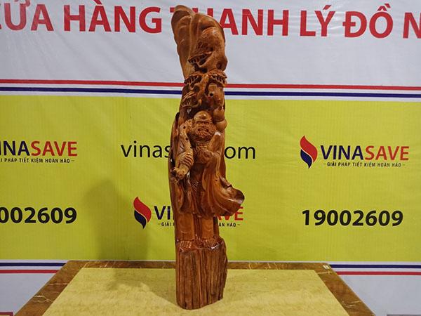 Đạt Ma Sư Tổ gỗ Hương Gia Lai 110x30x34 cm