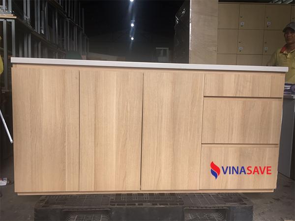Tủ bếp vân gỗ cũ VN321