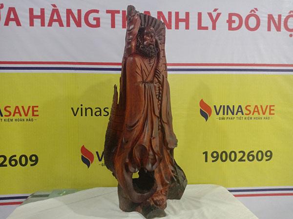 Tượng Đạt Ma Sư Tổ gỗ Hương 114x56x34 cm