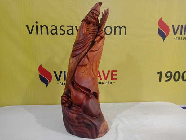 Tượng Tế Công gỗ Hương 69x27x28 cm