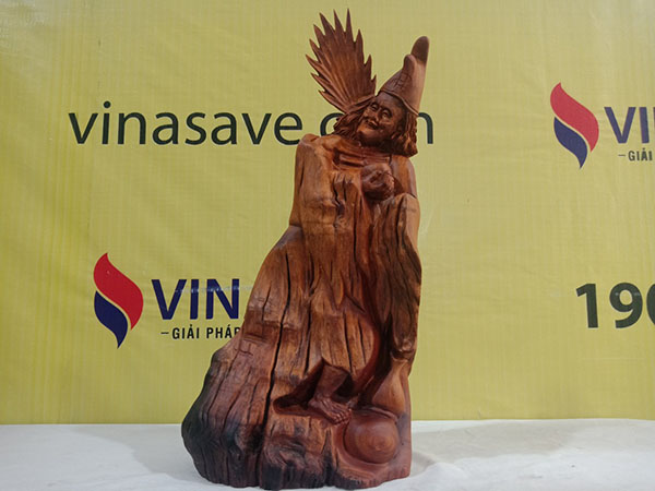 Tượng Tế Công gỗ Hương 60x27x14 cm