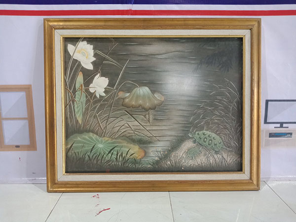 Tranh hoa sen cũ SP004643