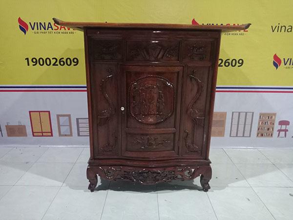 Tủ thờ gỗ Gõ đỏ cũ SP004380