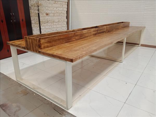 Bàn họp gỗ thông cũ SP010240