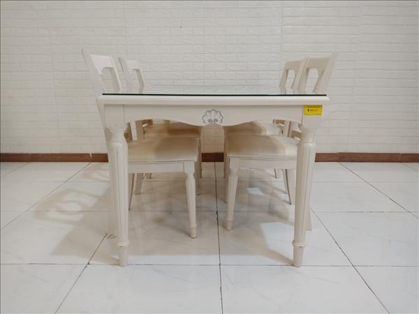 Bộ bàn ăn gỗ cao su cũ SP010230