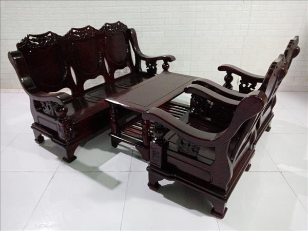 Bộ sofa gỗ Muồng cũ SP010077