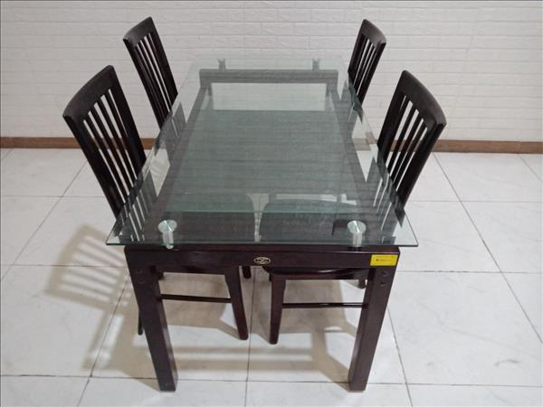 Bộ bàn ăn gỗ cao su Hòa Phát cũ SP010352
