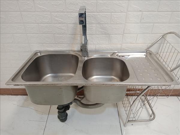 Bồn rửa chén inox cũ SP010327