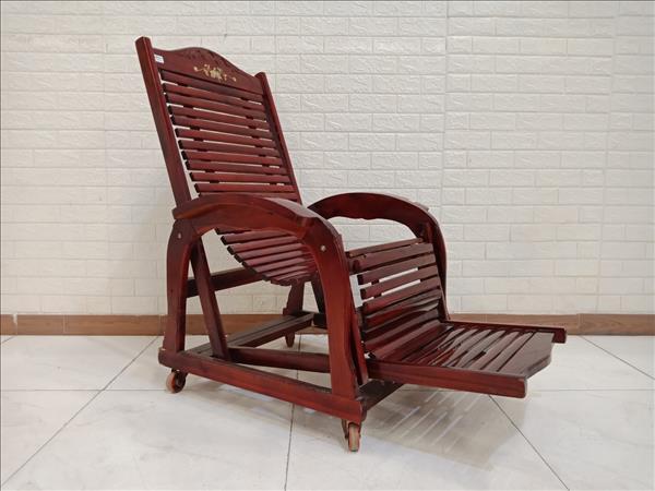 Ghế thư giãn gỗ Xoan đào cũ SP010378