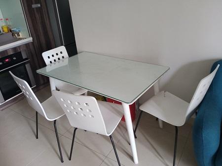 Bộ bàn ăn cũ SP014418