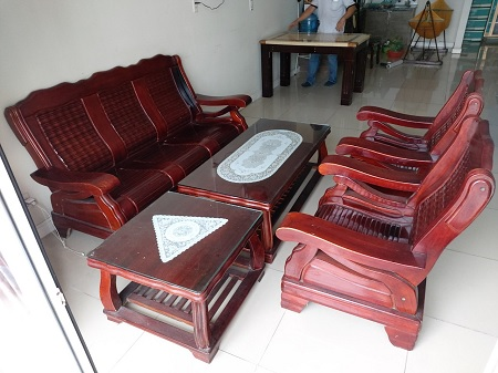 Bộ sofa gỗ tự nhiên cũ  SP014517