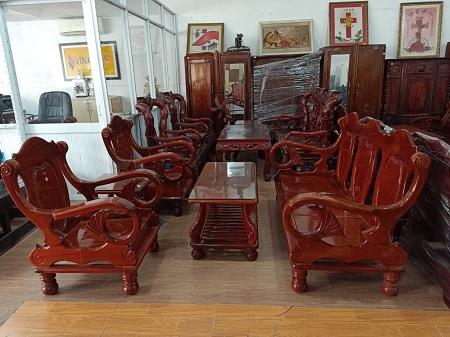 Bộ sofa gỗ tự nhiên cũ SP014525