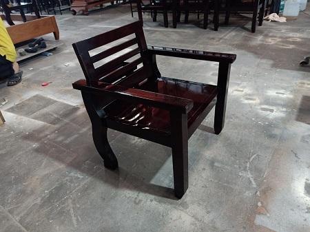Ghế gỗ đơn cũ SP014420