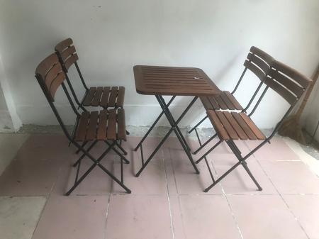 Bộ bàn cafe cũ SP016181