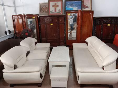 Bộ sofa nệm vải cũ SP016228