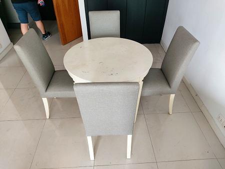 Bộ bàn ăn gỗ tự nhiên cũ SP016237