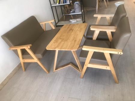 Bộ sofa gỗ tự nhiên cũ SP016185