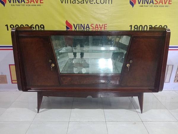 Thanh lý Tủ Búp Phê cũ chất liệu gỗ Gõ Đỏ chất lượng, giá ưu đãi - 5014