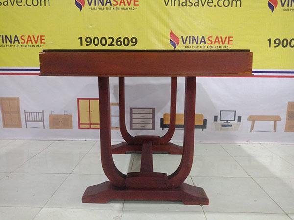 VinaSave thanh lý Bàn gỗ xưa cũ chất liệu mặt gỗ Gõ, chân gỗ Bằng Lăng - 5488
