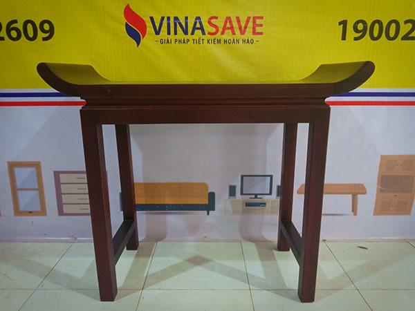 VinaSave thanh lý Bàn thờ cũ thiết kế kiểu cổ xưa, chân khung gỗ Tràm dày - 5351