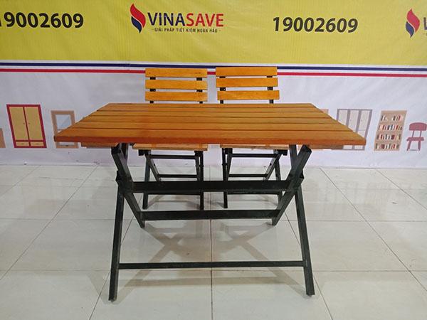 Thanh lý giá tốt Bộ bàn cafe cũ làm từ gỗ tự nhiên cao cấp, chất lượng như mới -4790